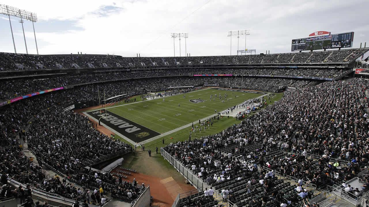 O.co Coliseum during an Oakland Raiders game