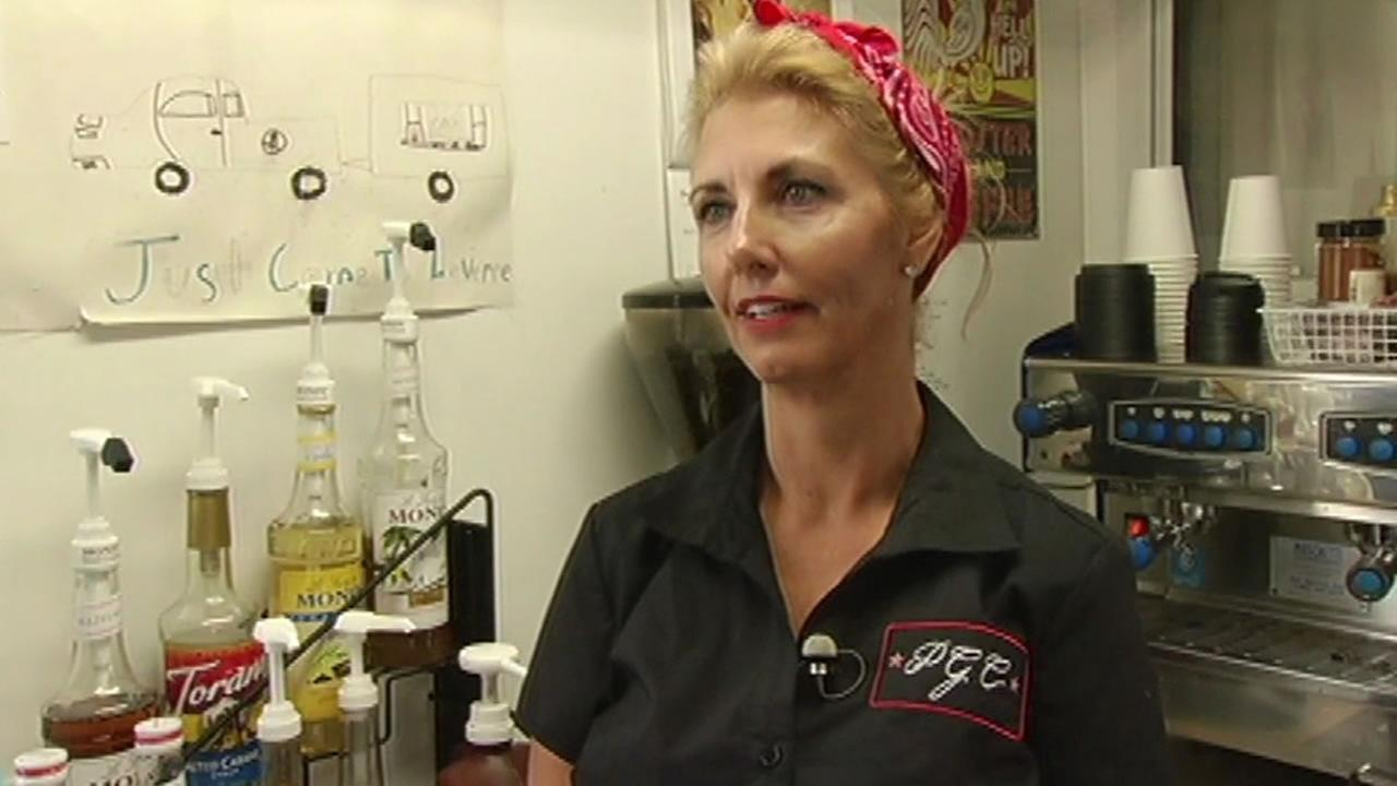 Sebrina Grillo, owner of Pinup Girl Coffee