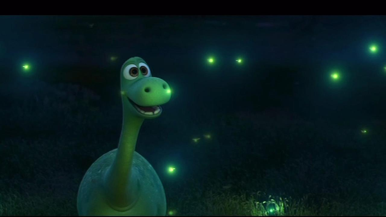 This undated image shows a moment from Pixars The Good Dinosaur, out in theaters on November 25, 2015.