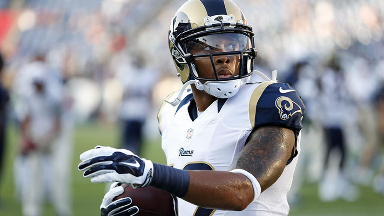 St. Louis Rams wide receiver Stedman Bailey warms up before a preseason NFL football game against the Tennessee Titans Sunday, Aug. 23, 2015, in Nashville, Tenn.