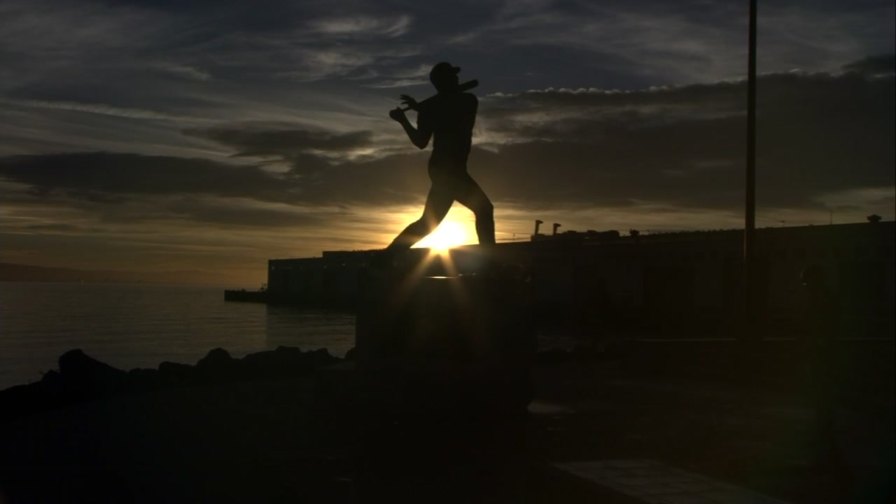 Fans left flowers and mementos at McCoveys statue alongside AT&T Park, and the cove that now bears his name.