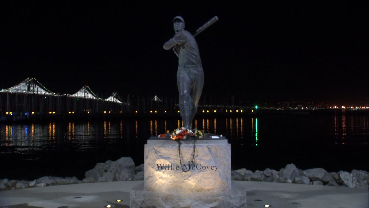 Willie McCovey statue at AT&T Park in San Francisco on Thursday, November 1, 2018.