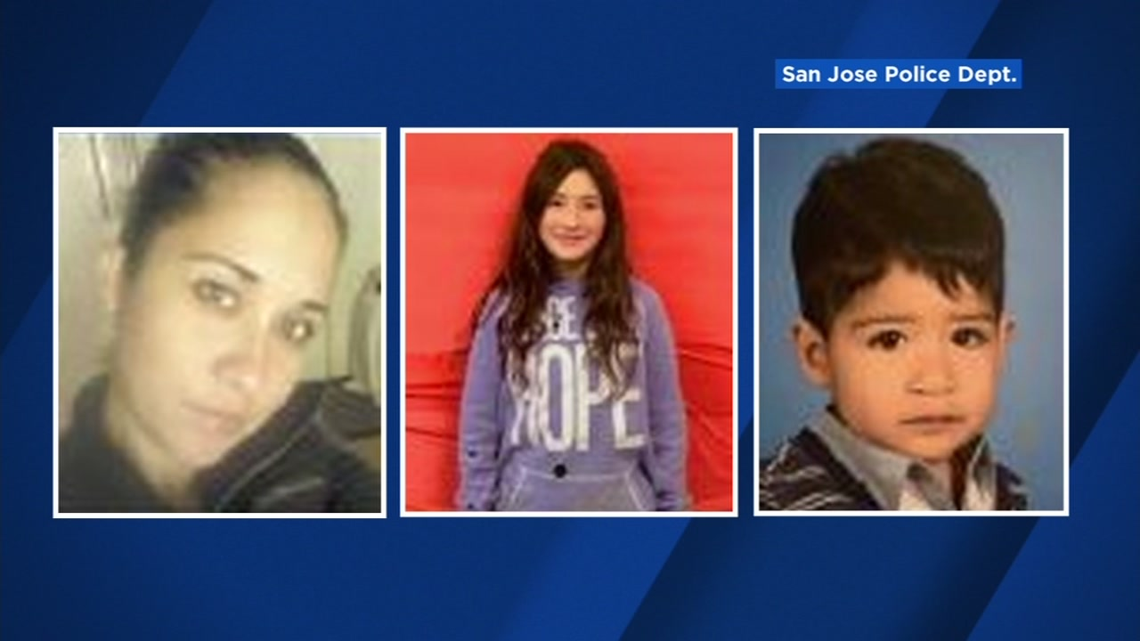 Police released these images of Diana Moreira, 33, and her two children whom police say she kidnapped: Pricilla Penaloza, 11, and Alexander Penaloza, 1.