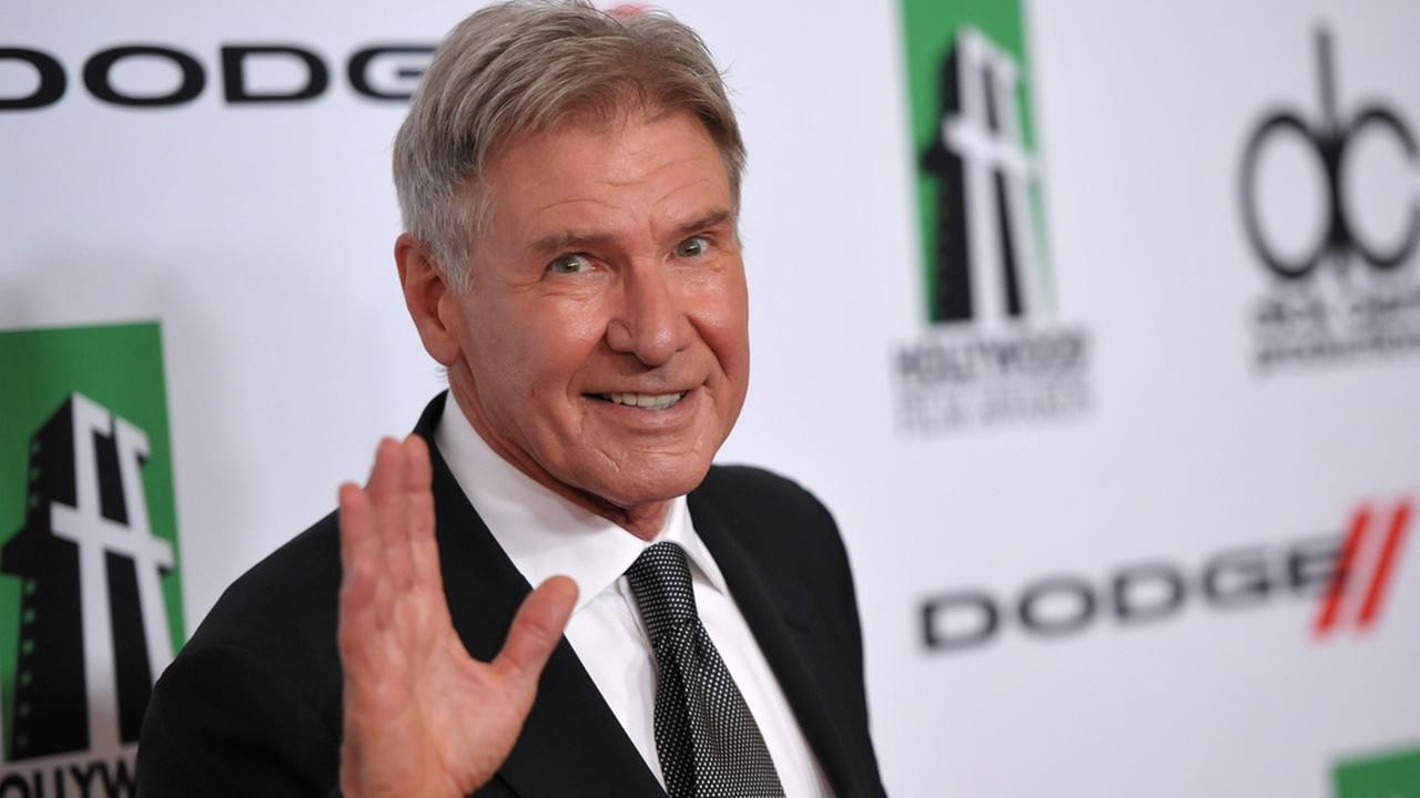 Harrison Ford arrives at the 17th Annual Hollywood Film Awards Gala at the Beverly Hilton Hotel on Oct. 21, 2013, in Beverly Hills, Calif. (Photo by John Shearer/Invision/AP)