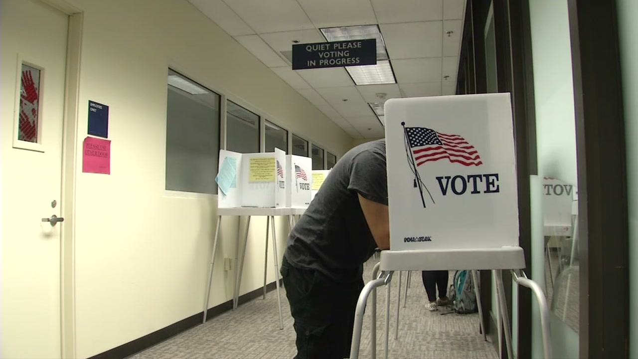 A man votes in Santa Clara County on Monday, Nov. 5, 2018.