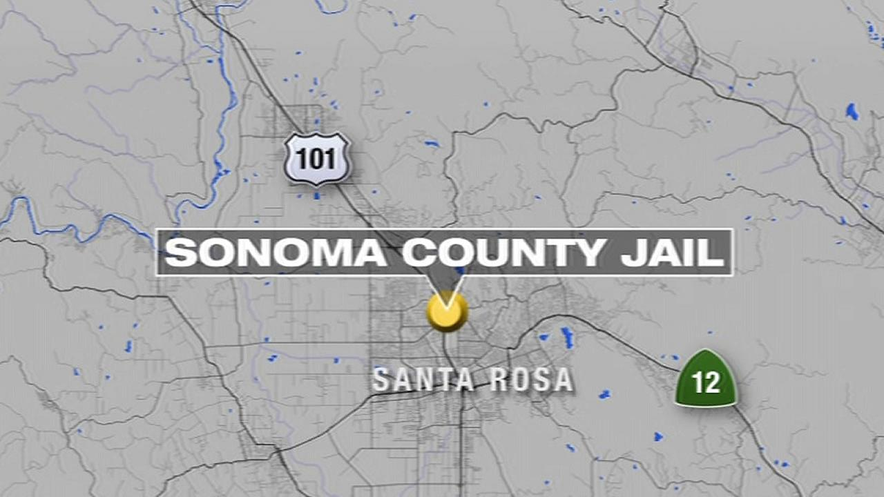 Sonoma County Jail map
