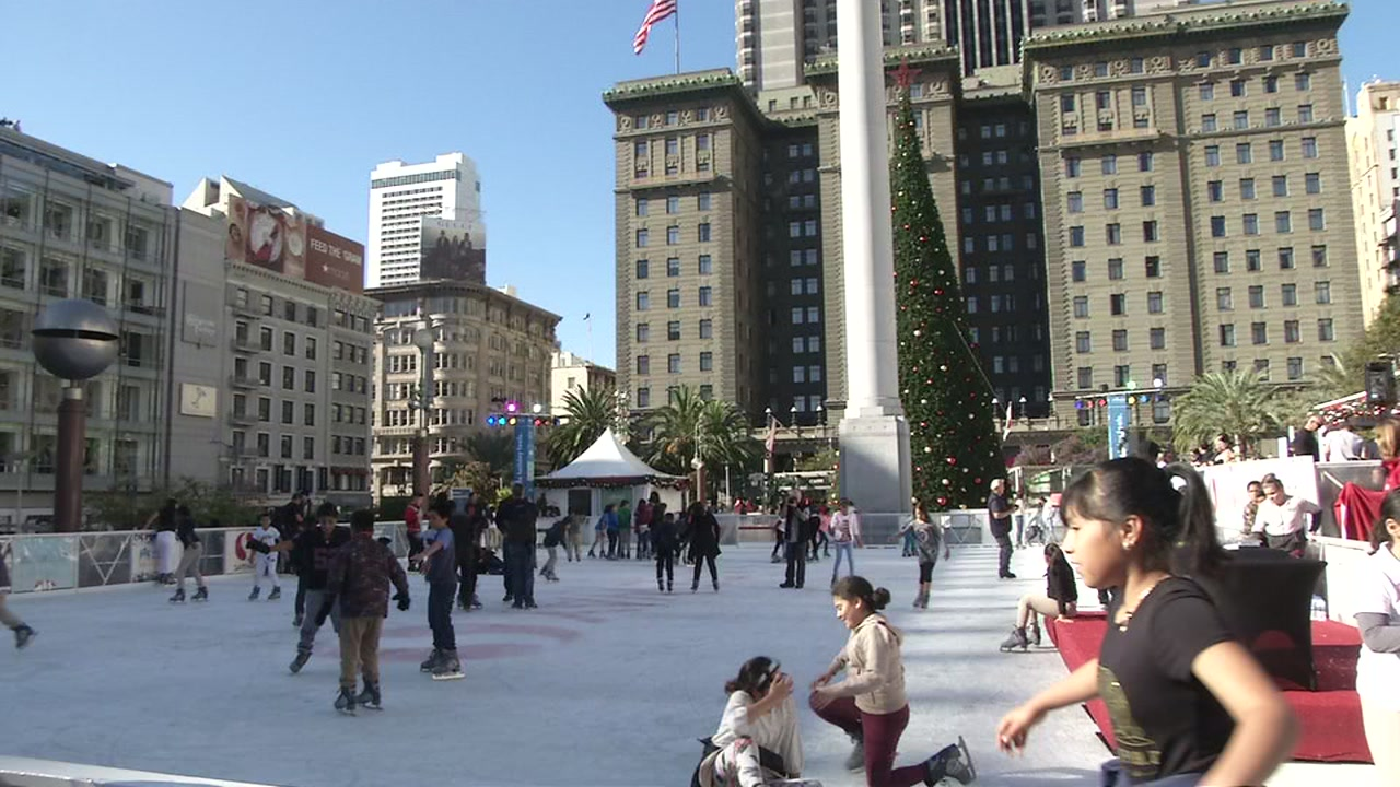 The Union Square Ice Rink opened in San Francisco on Wednesday, Nov. 7, 2018.