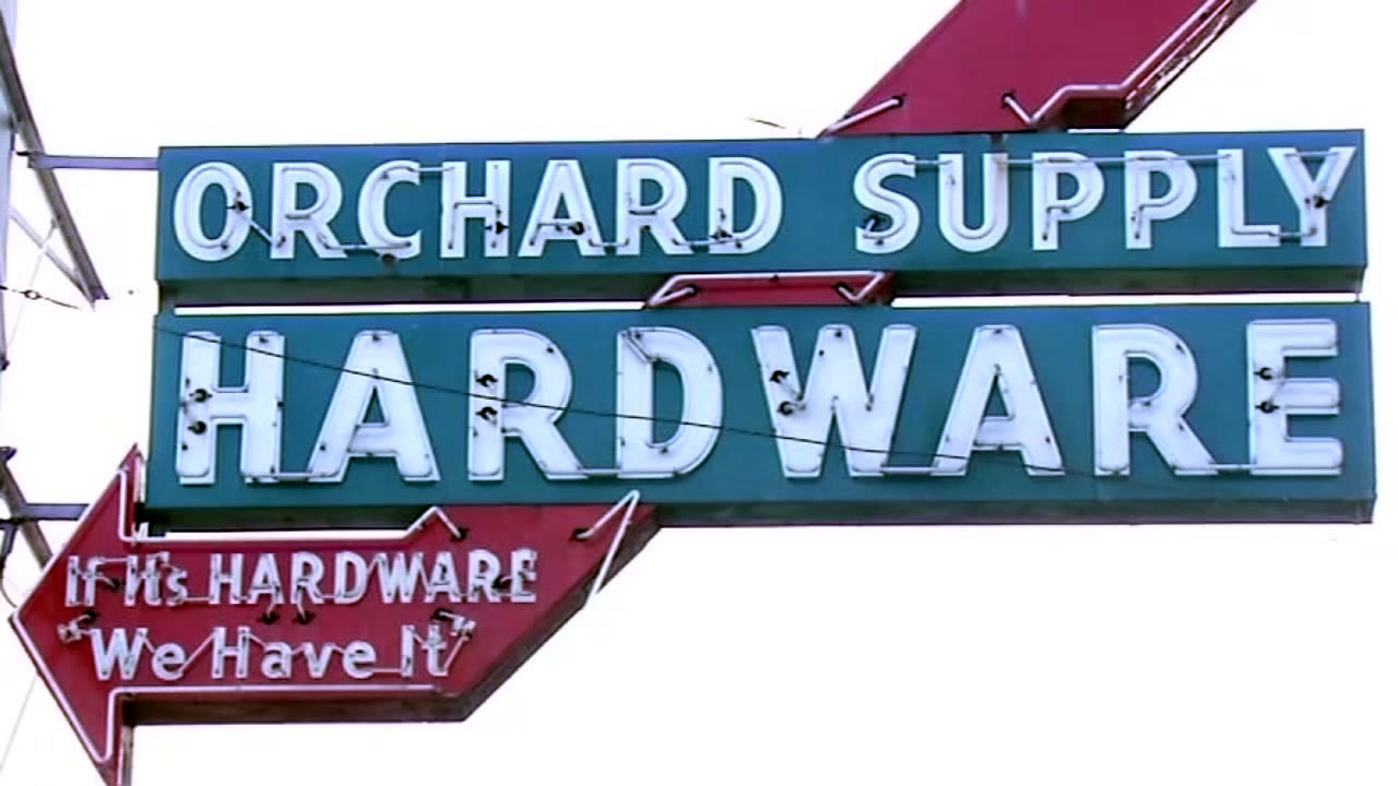 This vintage sign once welcomed customers to the oldest Orchard Supply Hardware location in San Jose, Calif.
