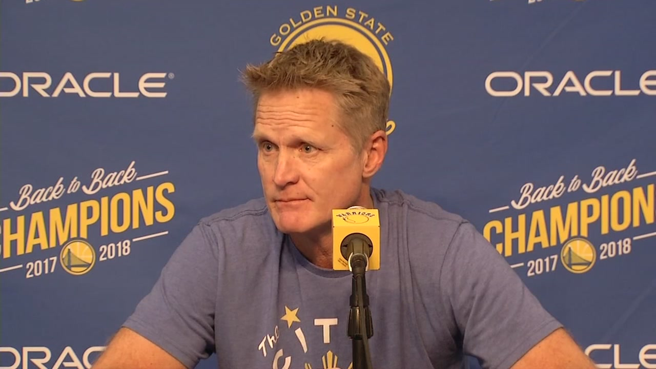Warriors coach Steve Kerr speaks before a game on Thursday, Nov. 8, 2018.