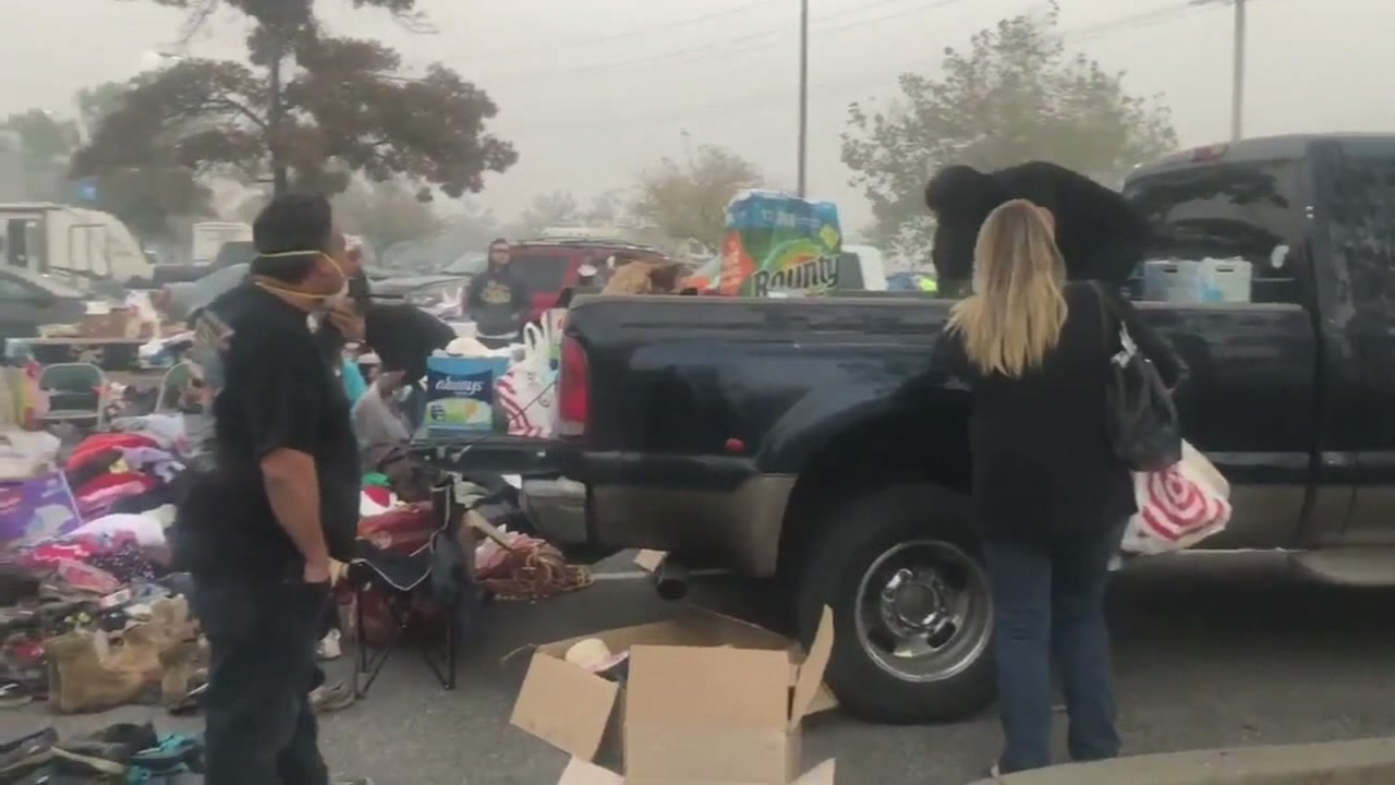 Volunteers and Good Samaritans are rallying around the survivors of the Butte County Fire, donating supplies to people who have nothing.