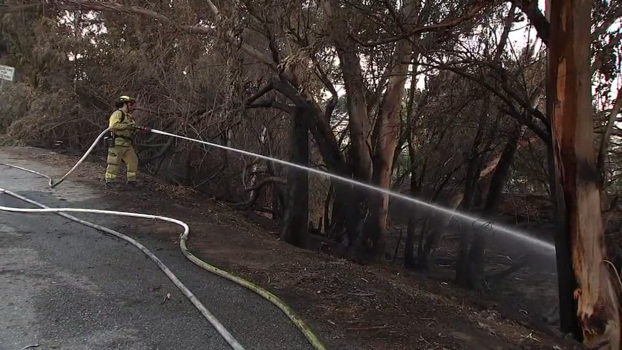 Many saw smoke rising from the hills above San Jose Sunday afternoon after a brush fire burned about four acres, near homes between Chaboya and Quimby Roads.