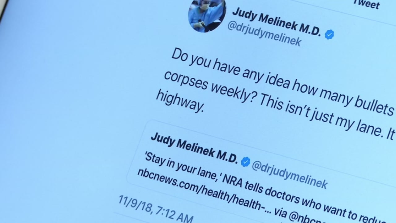 When Bay Area, Dr. Judy Melinek saw a recent Tweet from the National Rifle Association she decided to let the world know exactly what she thought about it.