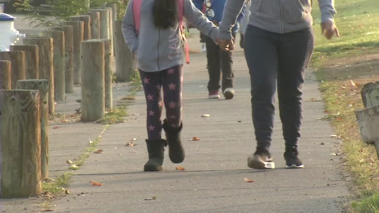 Students walking to school in Sonoma County on Wednesday, November 14, 2018.