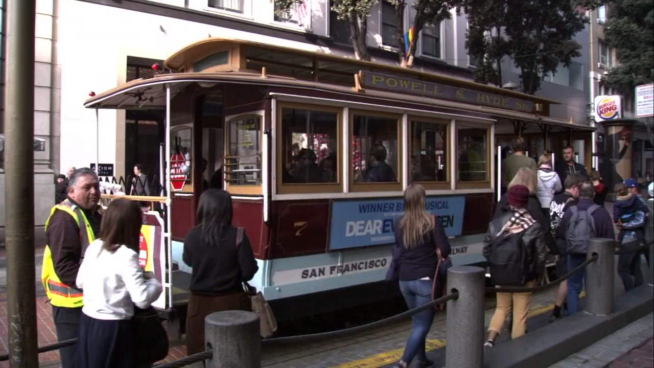 Cable car in San Francisco on Tuesday, November 20, 2018.