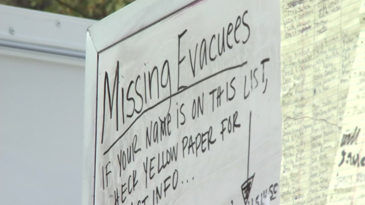The Red Cross and others have been working tirelessly to get names crossed off the missing person list.