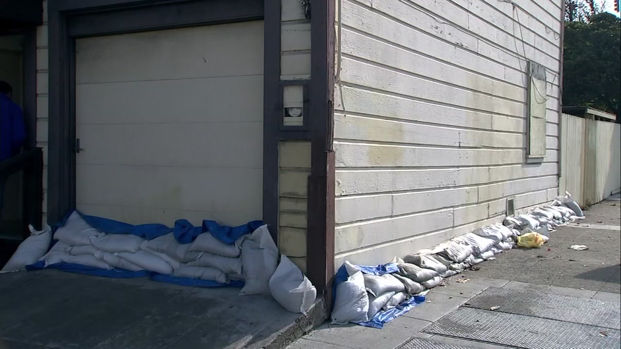 Residents from a small low ground neighborhood in San Francisco are taking no chances as they prep for the coming storm.