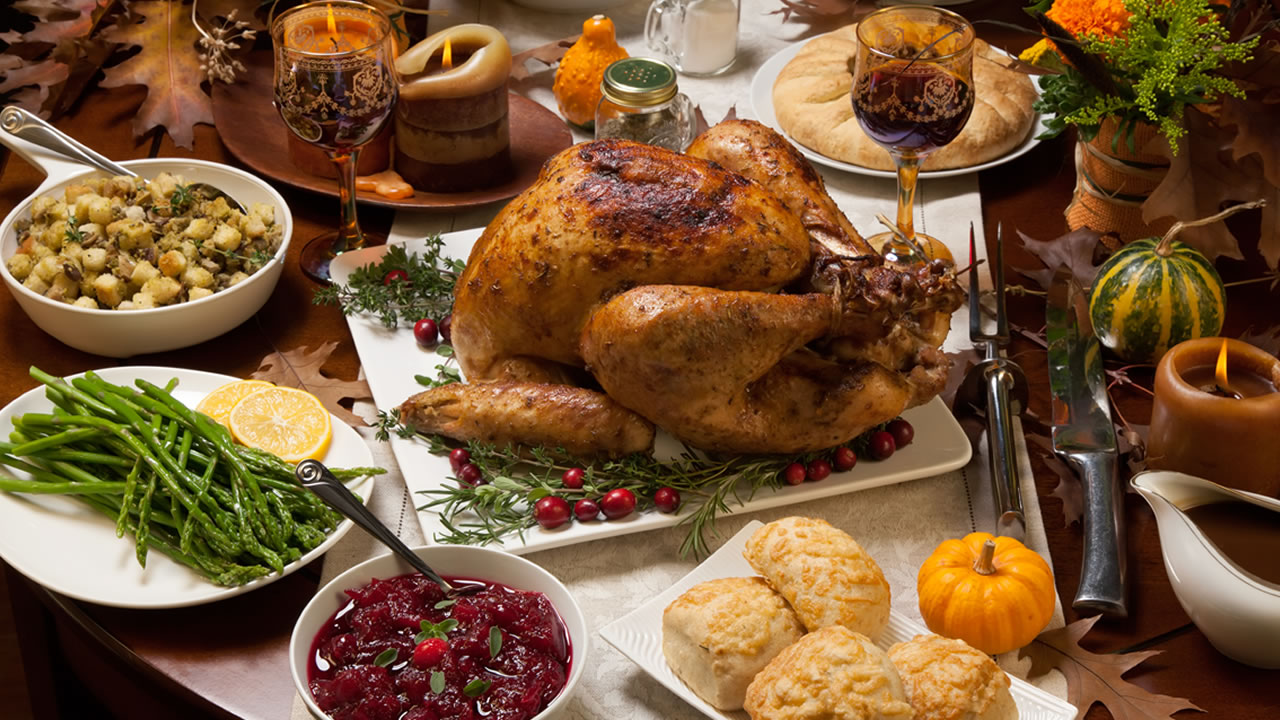 Thanksgiving dinner is pictured in this undated file photo.