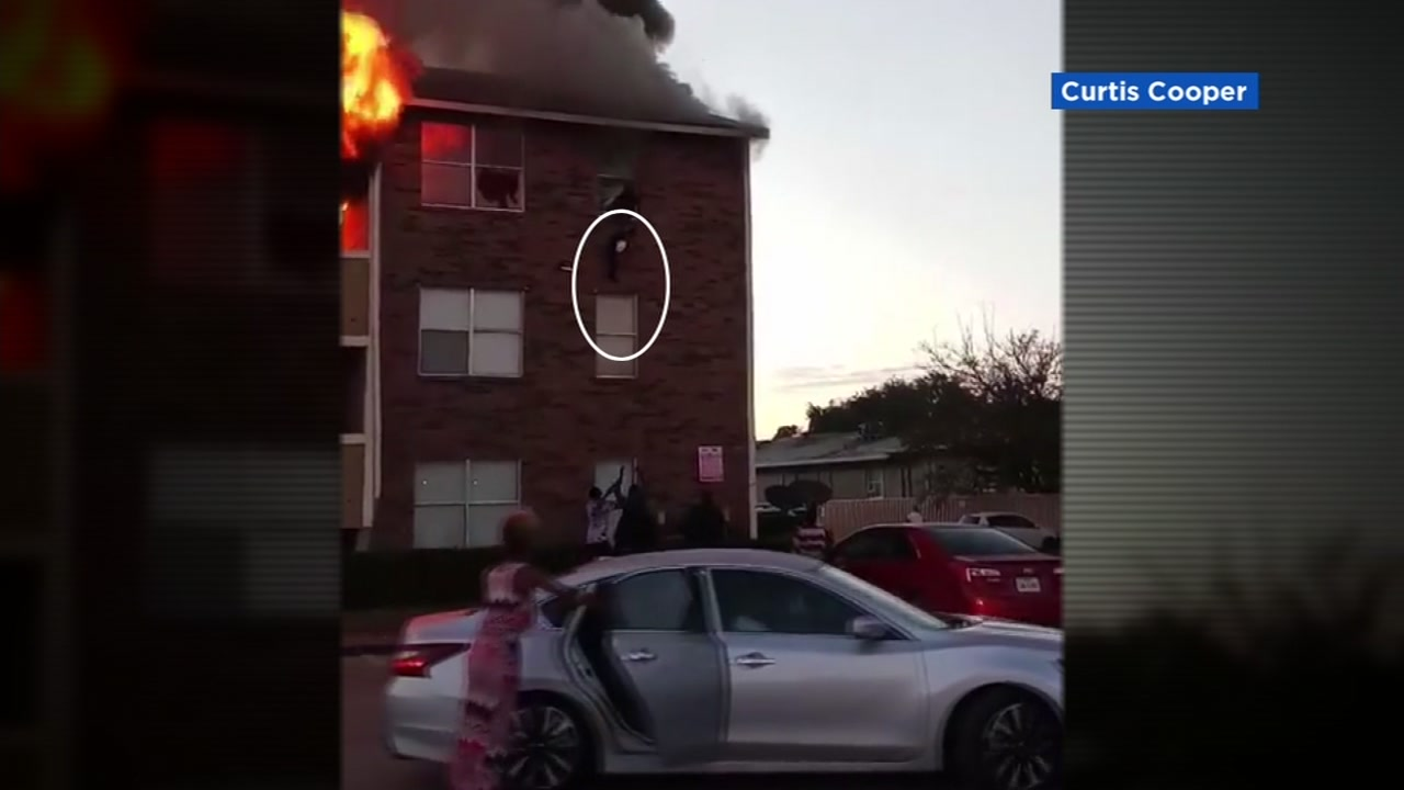There were some heart-stopping moments in Dallas when several people were forced to jump from a burning apartment building.