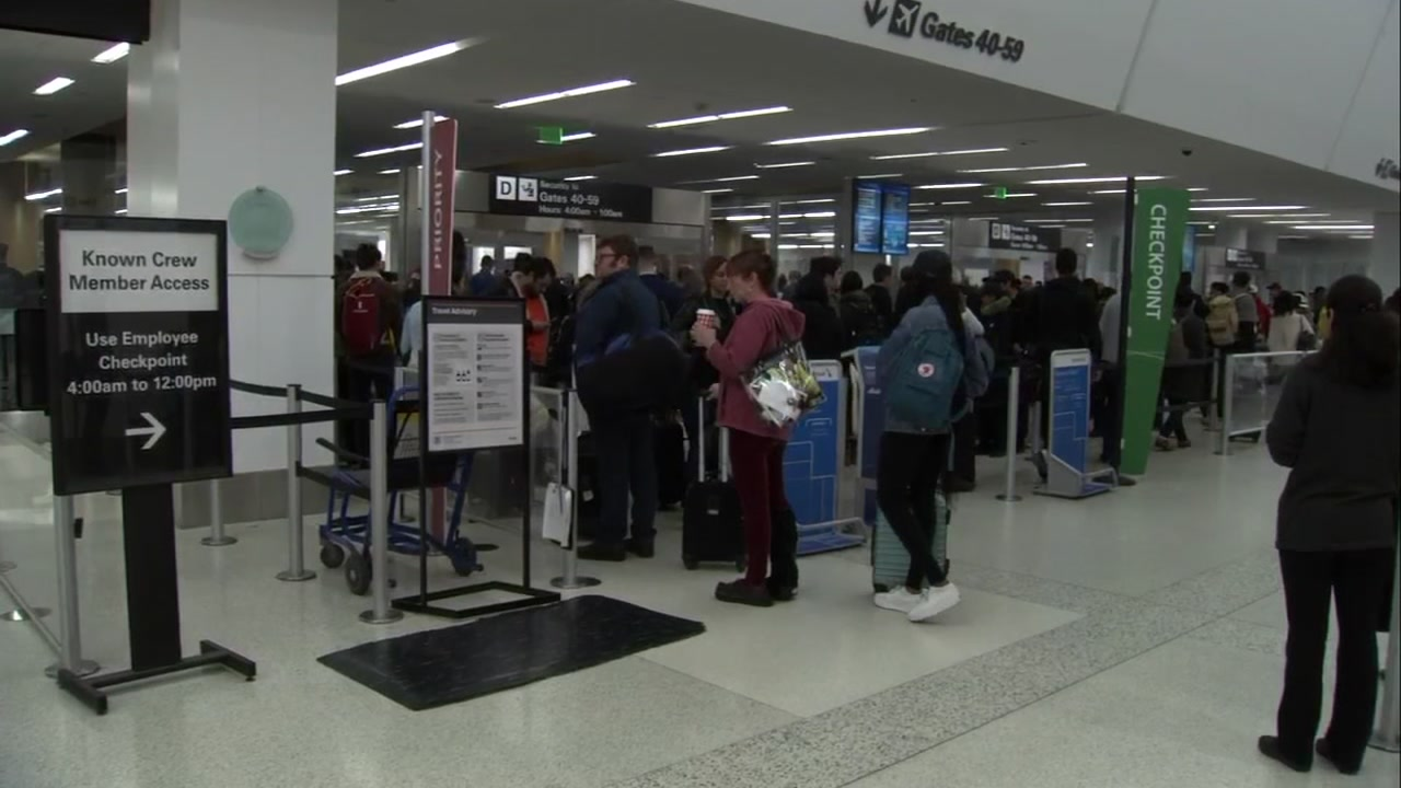 Line at San Francisco International Airport on Wednesday, November 21, 2018.