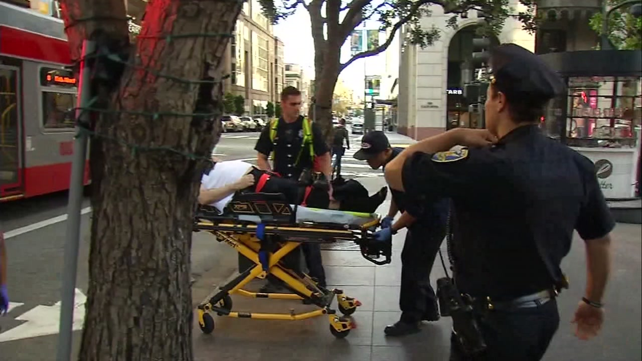 A security guard was critically hurt during an attack in San Francisco on Sunday, Nov. 26, 2018.