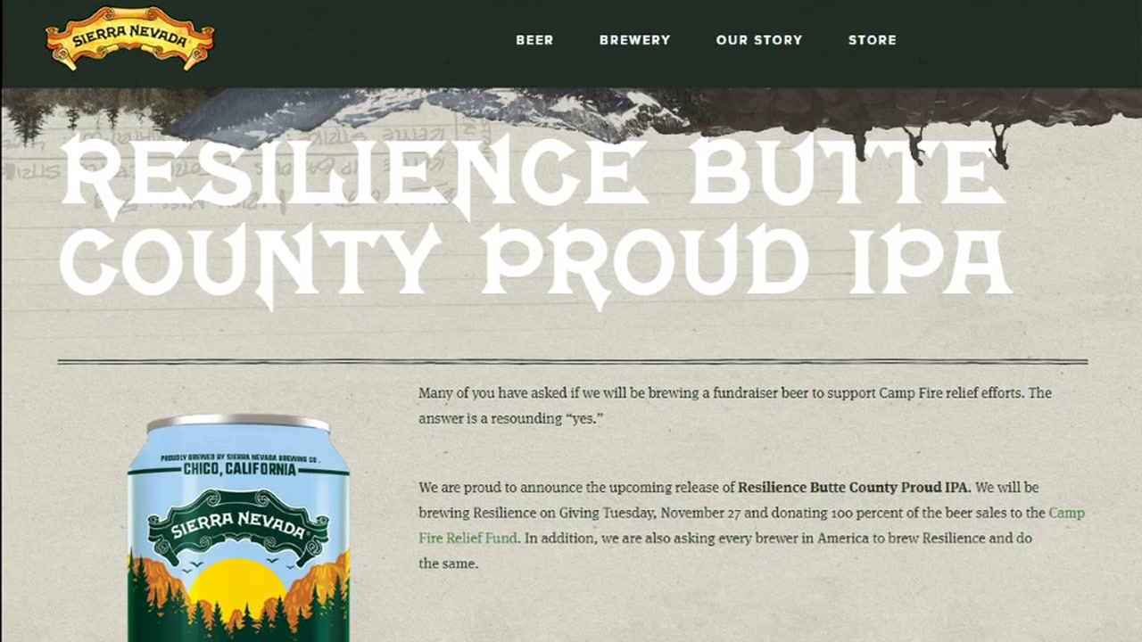 Resilience Butte County Proud IPA is pictured on the Sierra Nevada website.