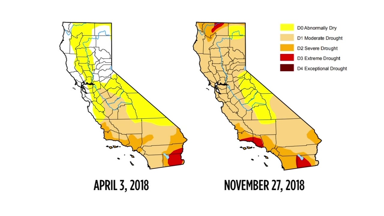 Drought map shows recent storm has not helped conditions in ...