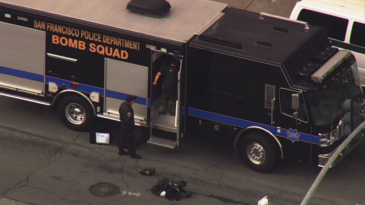 This image shows the SFPD Bomb Squad outside in San Francisco, Calif. on Thursday, Nov. 29, 2018.