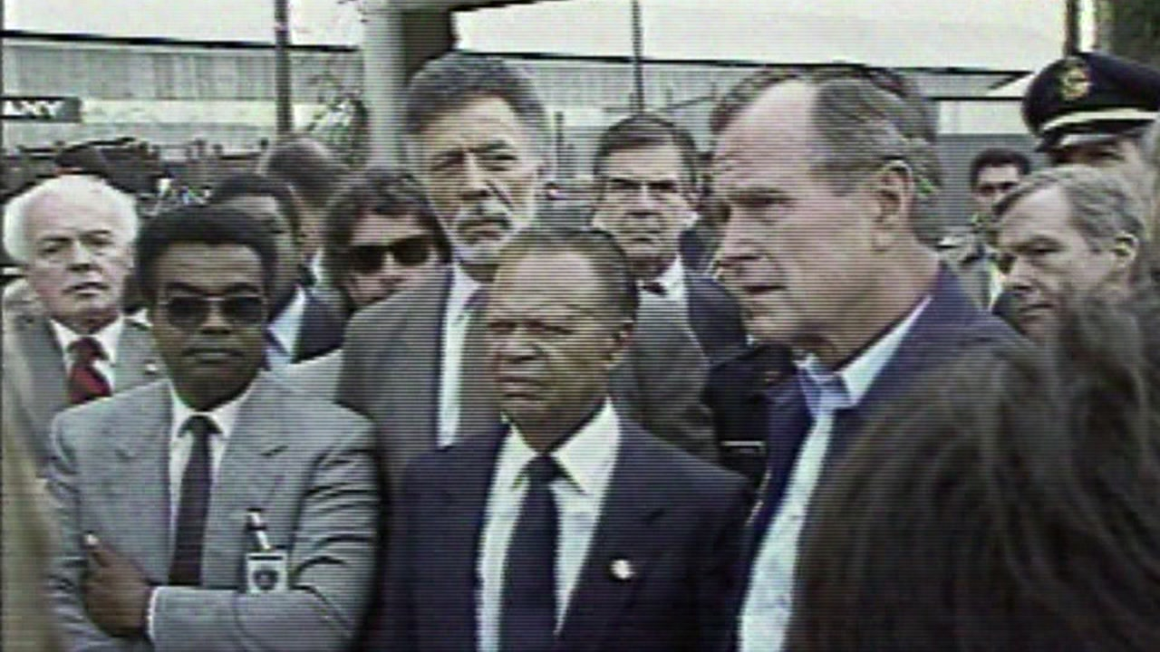 George H. W. Bush visited the Bay Area multiple times during his presidency-- the most notable after the deadly Loma Prieta earthquake.