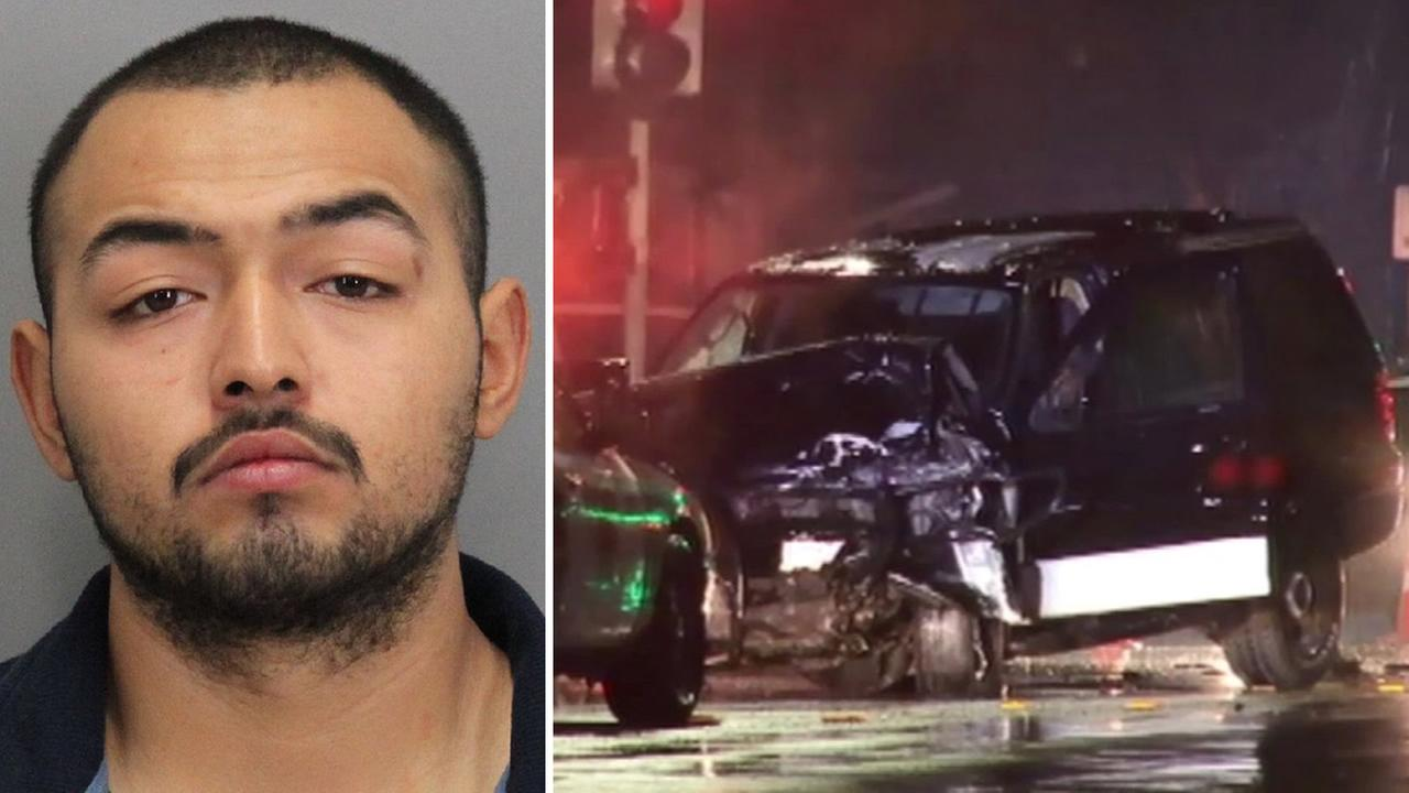 Carlos Villalobos, 19, is accused in an alleged drunk driving rampage that left six vehicles damaged and one person dead in San Jose, Calif. on Monday, December 21, 2015.