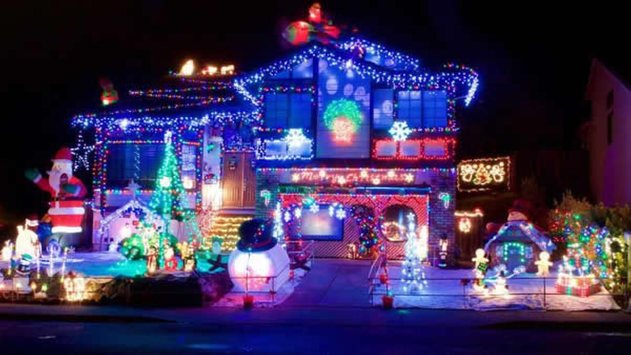 Holiday lights decorate a home in Concord, Calif. in this undated image.