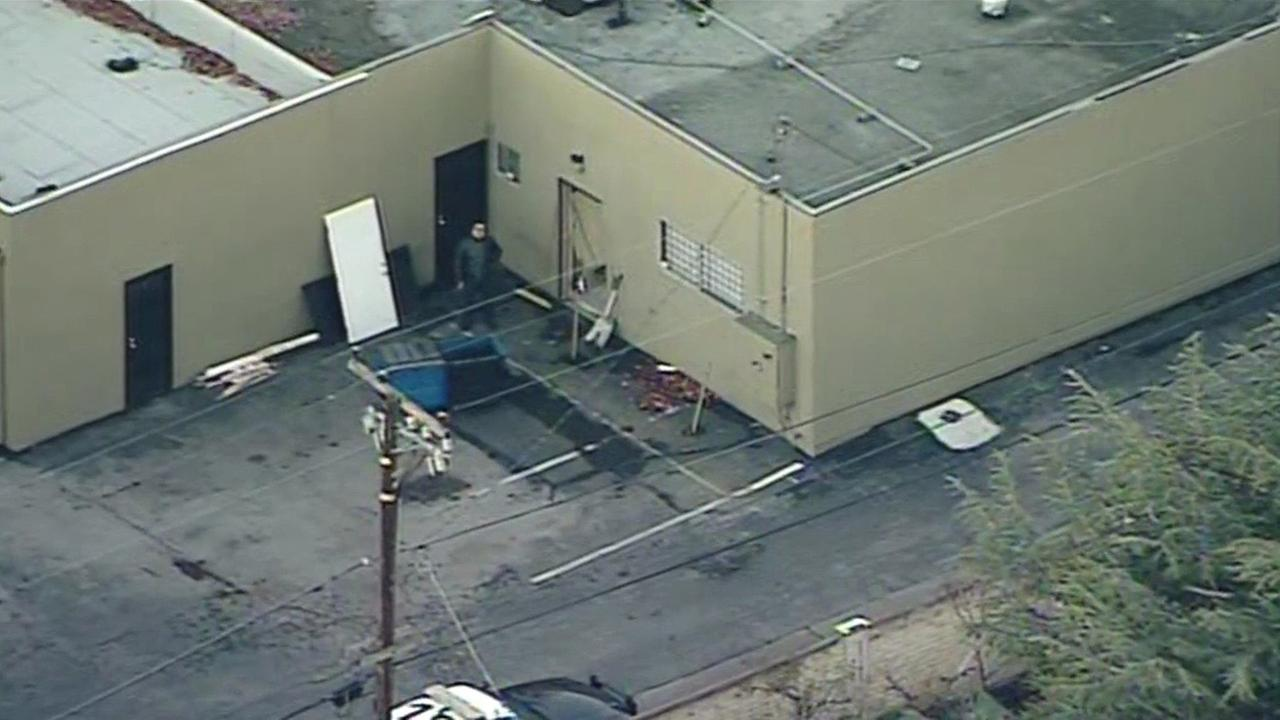 Burglary scene at U.S. Firearms in Sunnyvale, Tuesday, December 29, 2015.