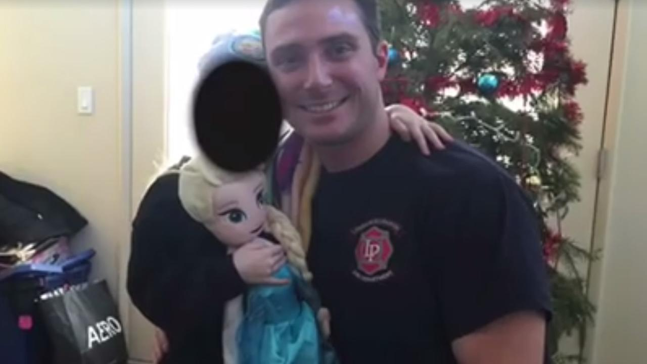 Police and firefighters have joined together to help a 6-year-old girl whose mom died in Livermore, Calif. on Friday, December 25, 2015.