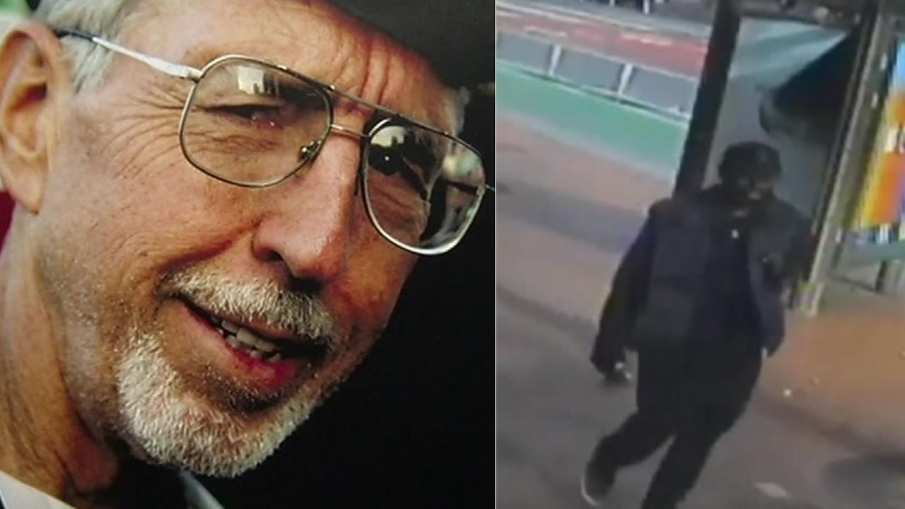 San Francisco police are looking for a person of interest who they believe beat 74-year-old Stuart Jackson to death on December 5, 2015.