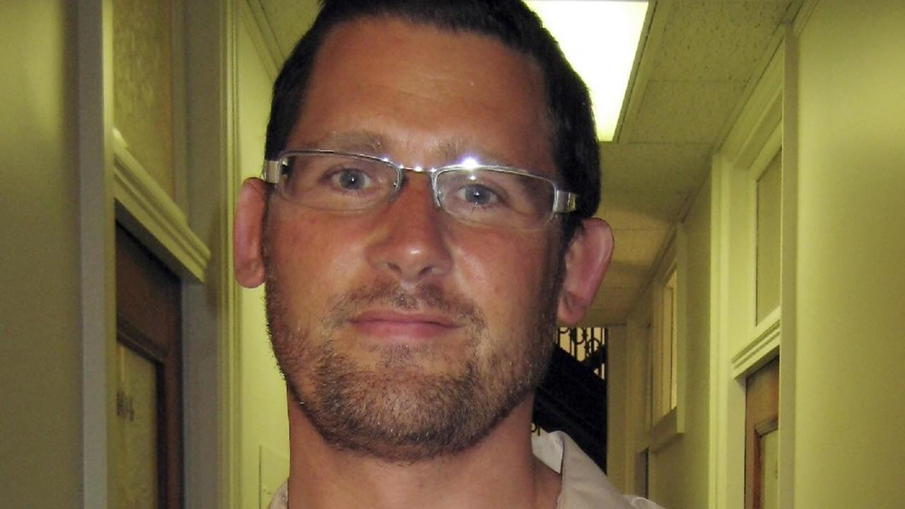 File - This undated file photo provided by the FBI shows Ryan Chamberlain.(AP Photo/FBI, File)