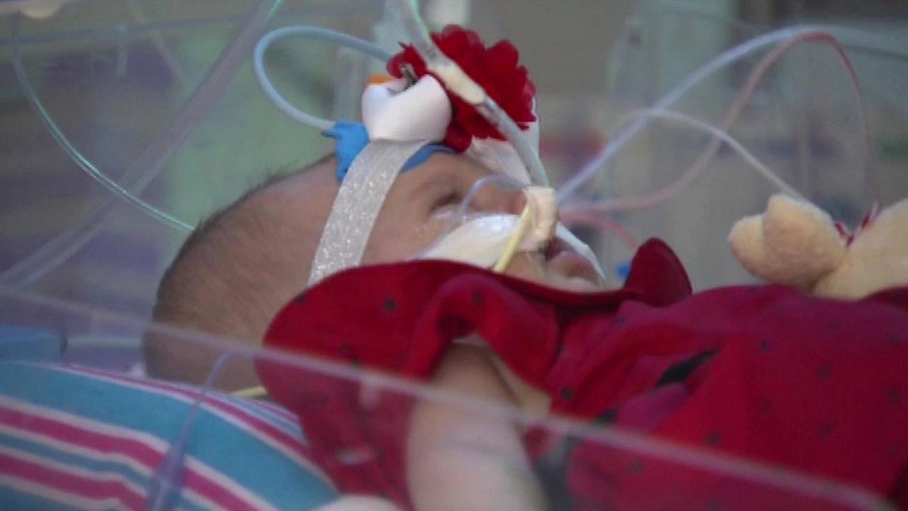Baby Teegan is seen sleeping in this undated image.