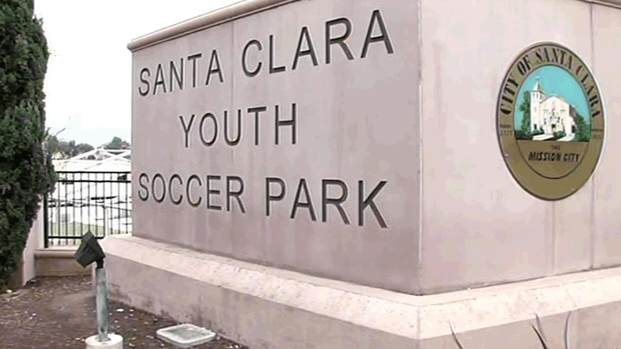 Santa Clara Youth Soccer Park sign