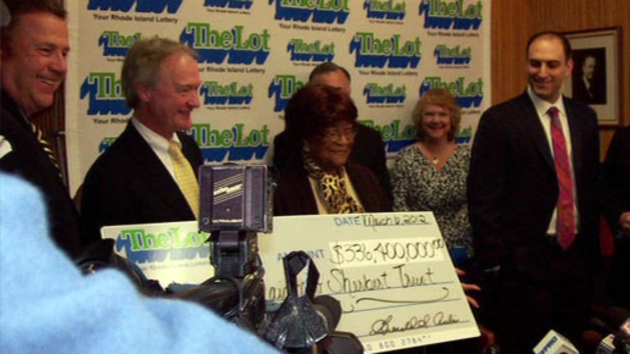 FILE -- Lottery winner in Rhode Island.