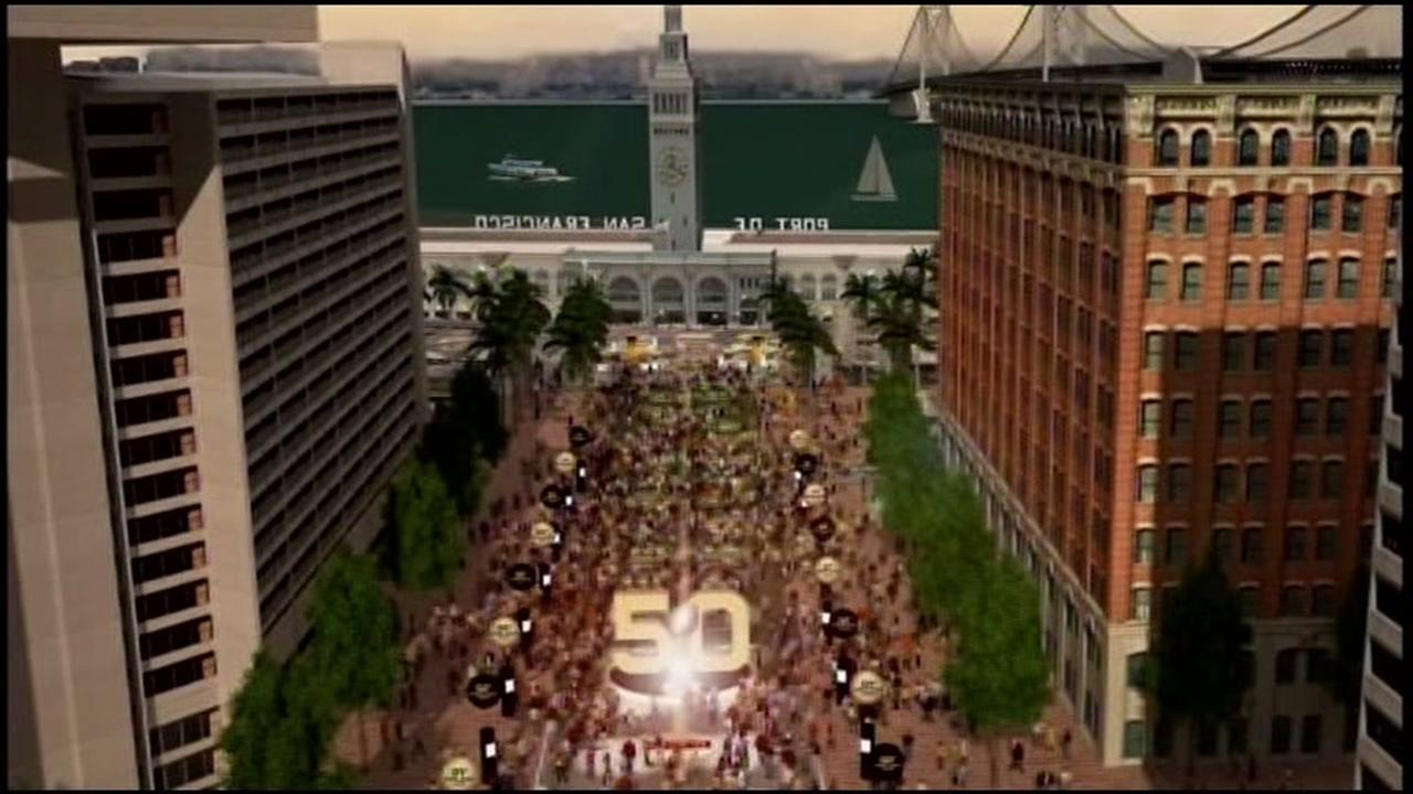 This undated image shows what Super Bowl City will look like in San Francisco for Super Bowl 50.