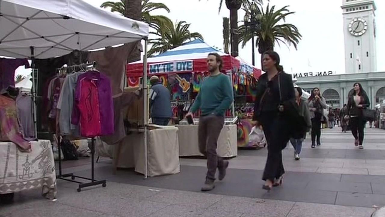 Vendors in San Franciscos Justin Herman Plaza January 15, 2015.