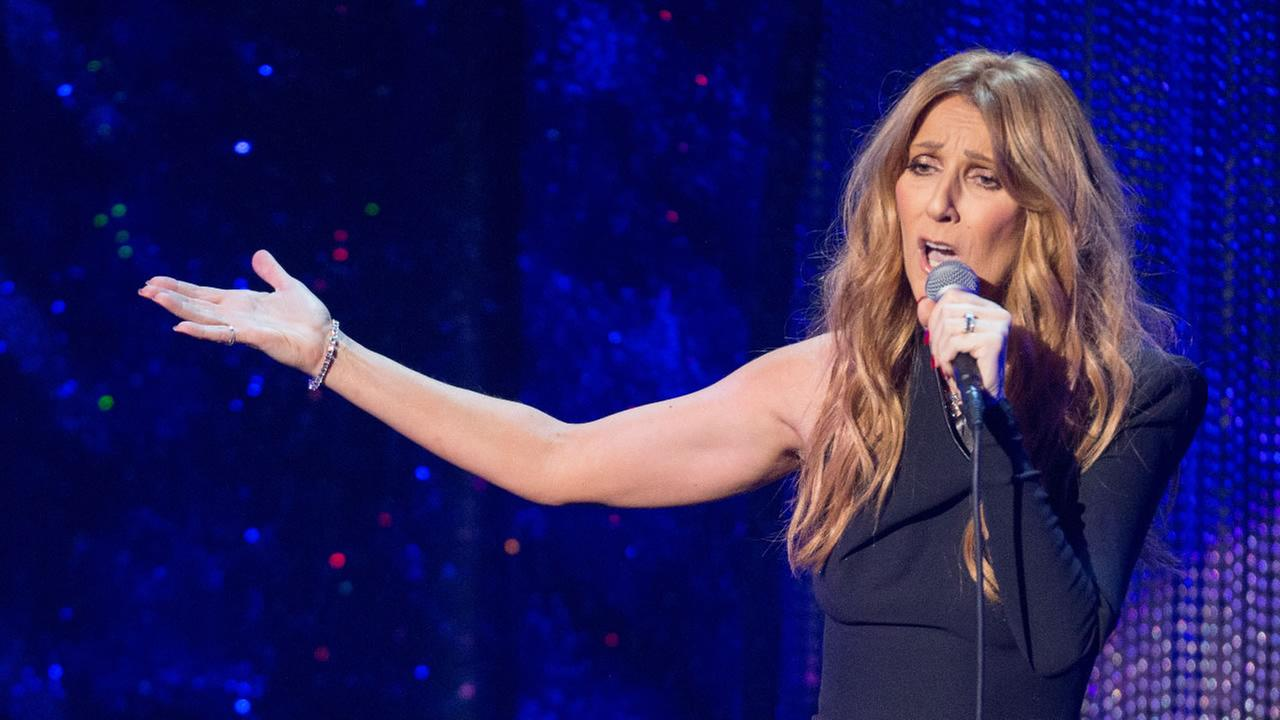 Recording Artists Celine Dion performs during the Sinatra 100 - An All-Star Grammy concert at The Wynn Las Vegas, Wednesday, Dec. 2, 2015.