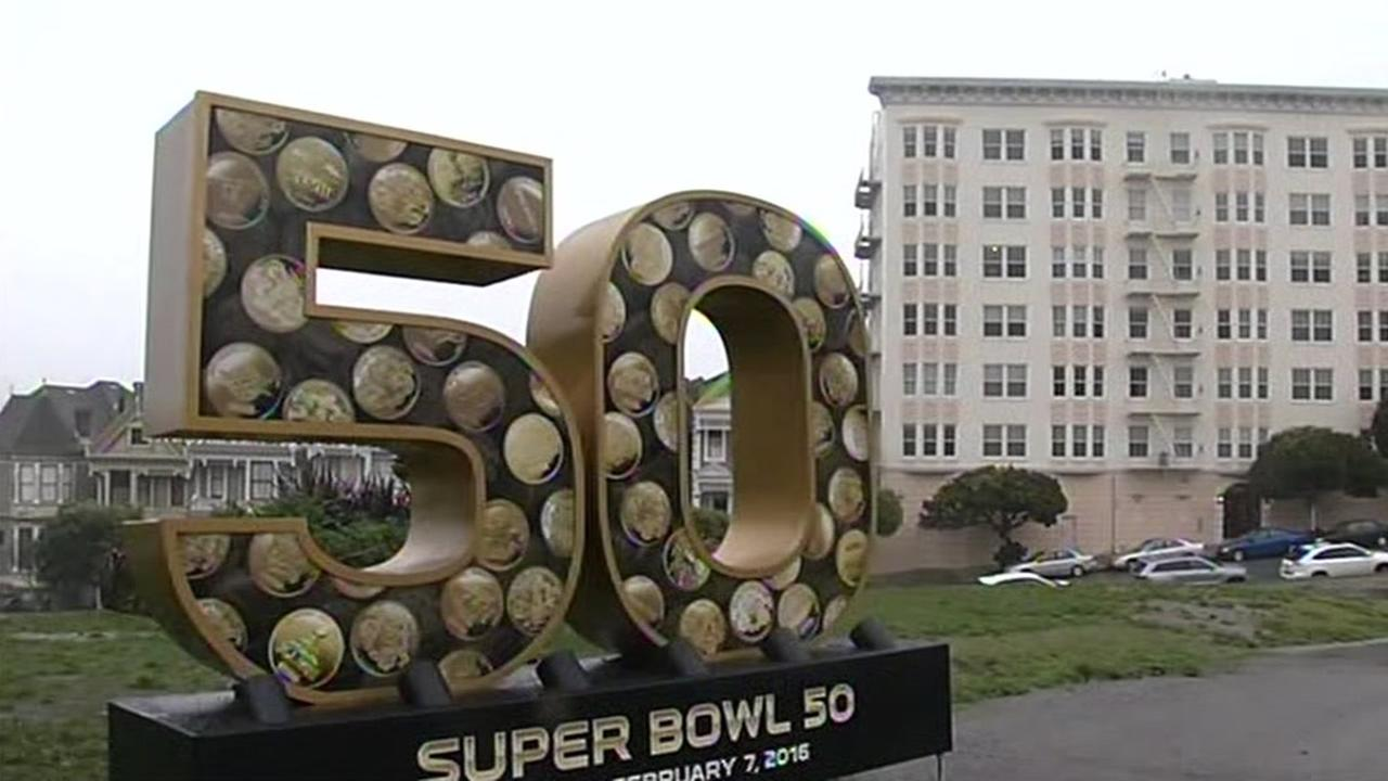 A Super Bowl 50 statue is seen in San Francisco, Calif. in this undated image.