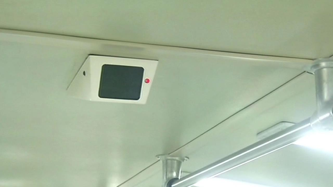 BART train camera