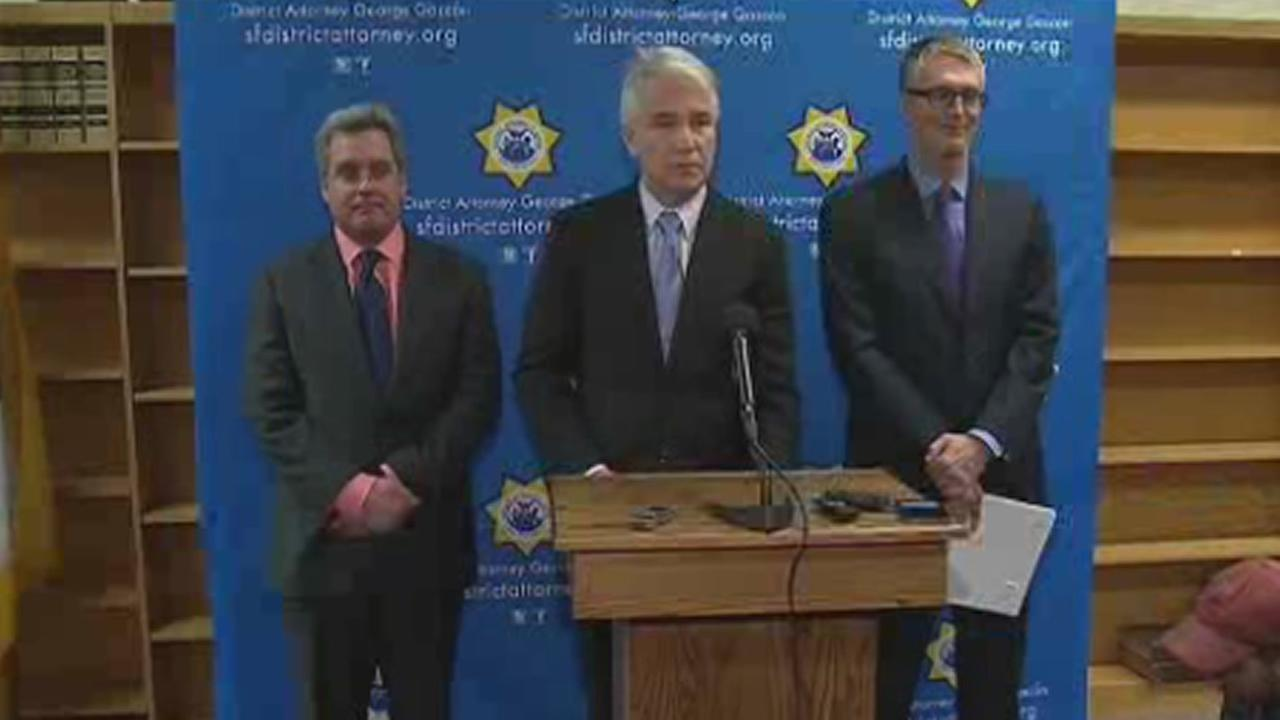 San Franciscos District Attorney George Gascon announced felony bribery and money laundering charges former San Francisco Human Rights Commission employees on Friday, January 22, 2016.