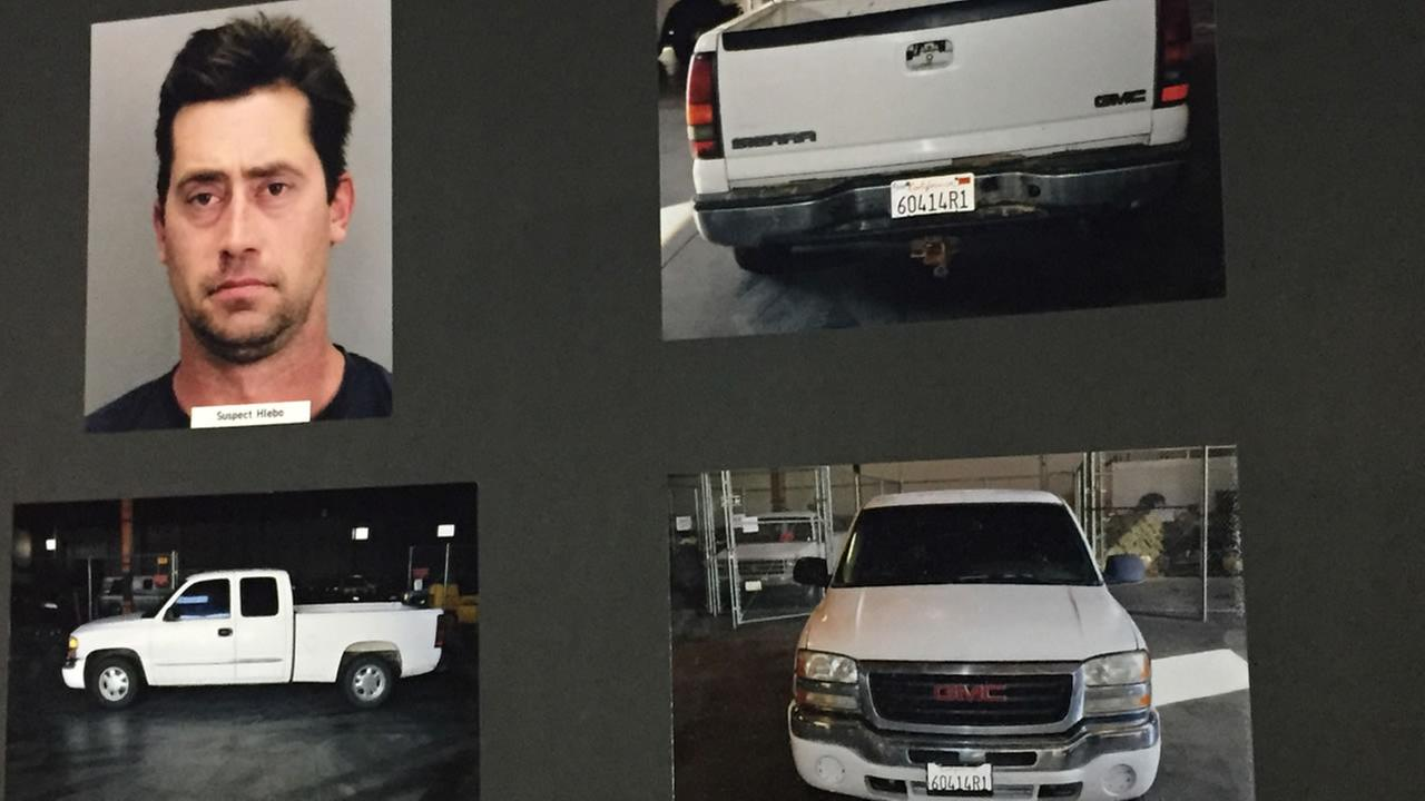 San Jose, Calif. police released photos of a suspects vehicle connected with the homicide of 28-year-old Kyle Myrick on Tuesday, January 26, 2016.