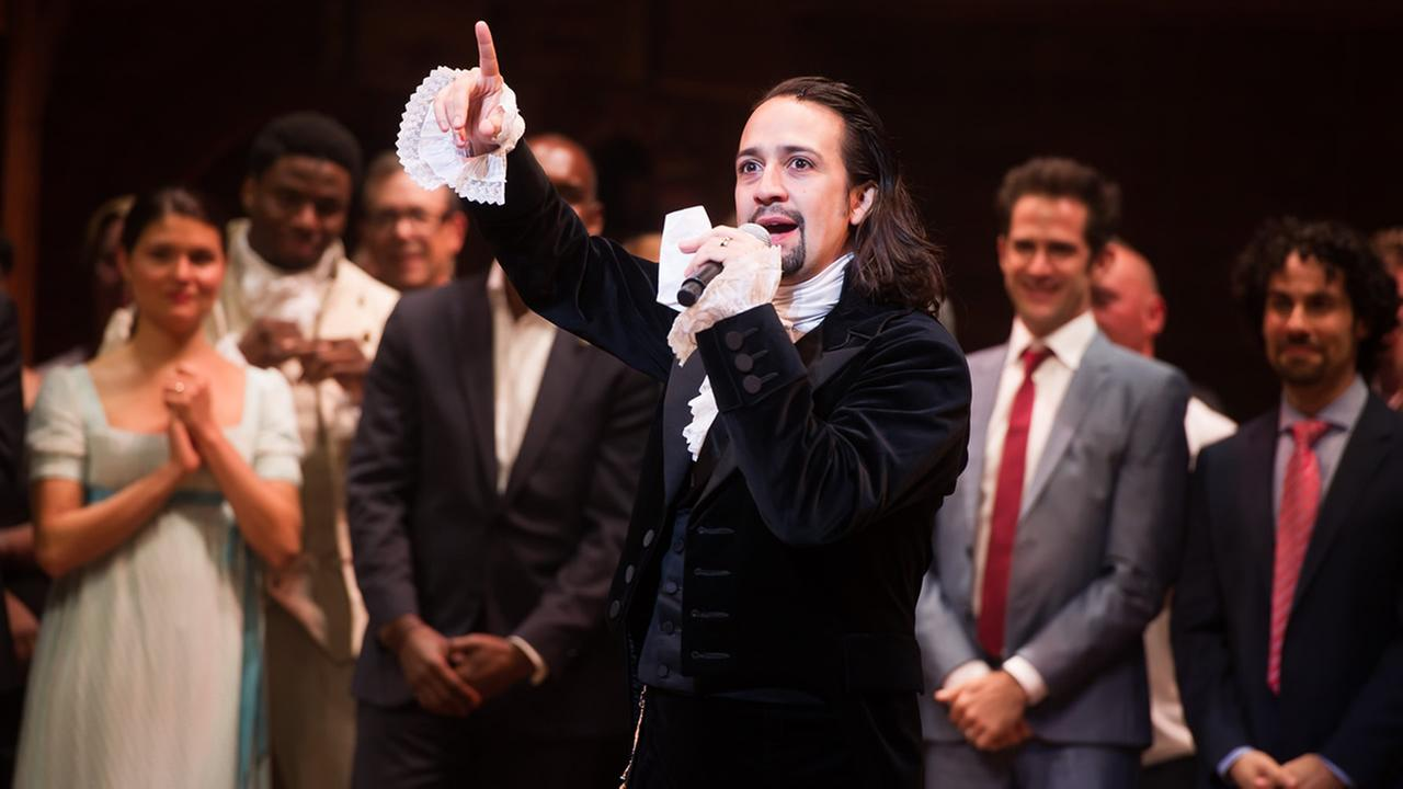 Lin-Manuel Miranda appears at the curtain call following the opening night performance of Hamilton at the Richard Rodgers Theatre on Thursday, Aug. 6, 2015, in New York. (Photo by Charles Sykes/Invision/AP)