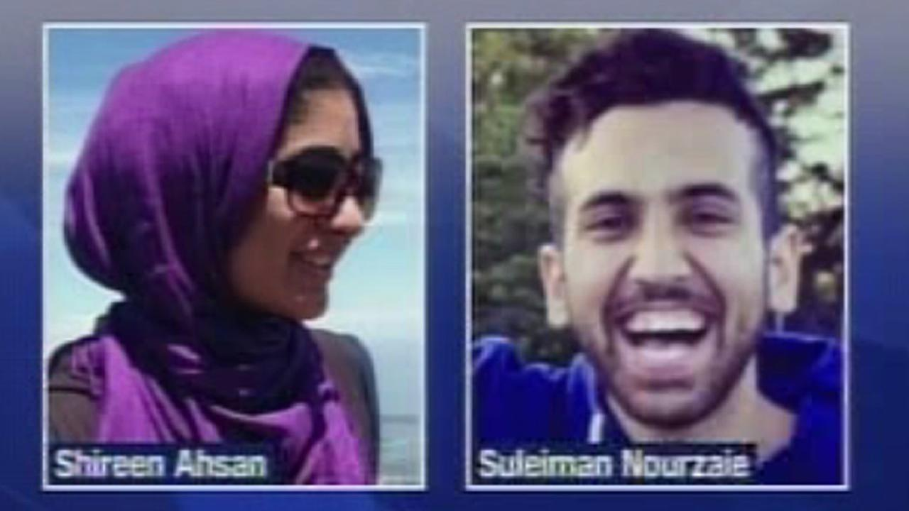 Shireen Agha Ahsan, left, had been missing since she was swept into the water at Bonny Doon Beach on Jan. 18, 2016. Solaiman Nourzaie, right, was also taken out of the water.