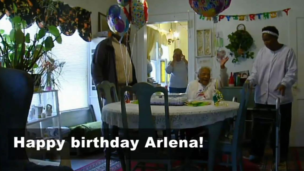 Arelena Labon is celebrating her 108th birthday.