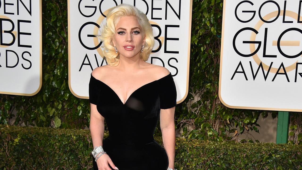 Lady Gaga arrives at the 73rd annual Golden Globe Awards on Sunday, Jan. 10, 2016, at the Beverly Hilton Hotel in Beverly Hills, Calif.