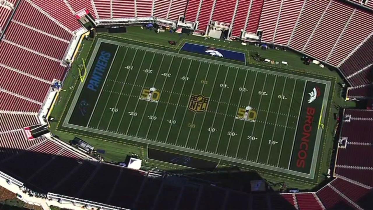 Aerial views of Levis Stadium Feb. 2, 2016