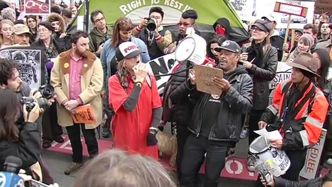 Homeless protest in San Francisco